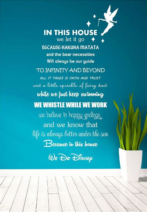 Disney Quotes For Bedroom Walls by Details About Disney Quote Poem Family Tinkerbell