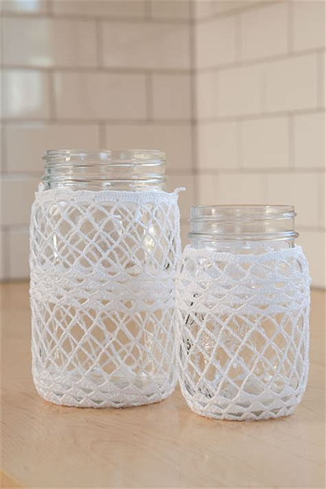 Crocheted Ball Jar Cozies   Knitting Patterns and Crochet