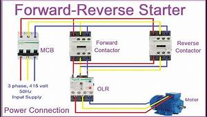 Reverse Forward Motor Control Circuit Diagram In Hindi