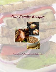 Recipe Journal Template Our Family Recipes Book 83686 Bookemon