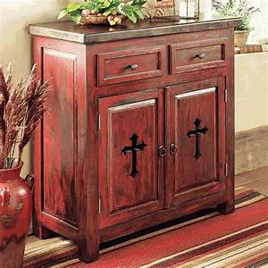 santa fe cross cabinet With best brand of paint for kitchen cabinets with monogrammed candle holders
