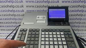 Program Barcode Scanner Instructions Casio Sr  Pcr