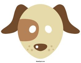 dog mask templates including  coloring page version