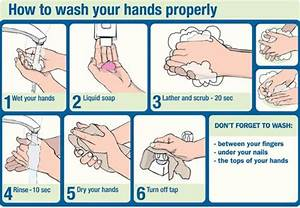Steps Of Hand Washing
