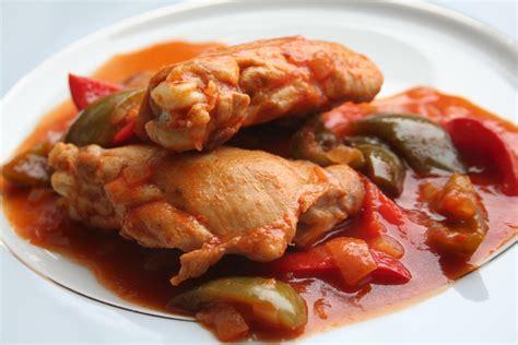recette de cuisine de poulet recettes poulet basquaise