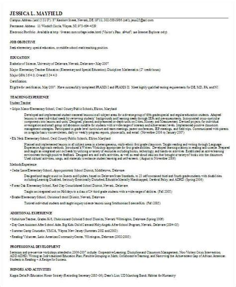 printable teacher resume templates  premium