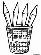 Pencil Coloring Case Pages Printable Colour Pencils Drawing Getdrawings Recommended Getcolorings sketch template