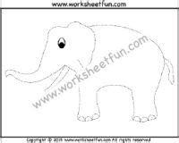 picture tracing images  printable worksheets