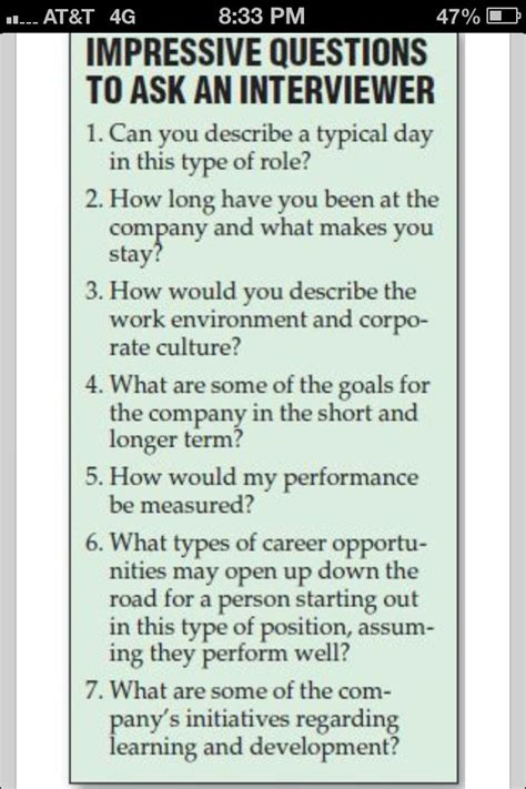 impressive questions to ask an interviewer imgur