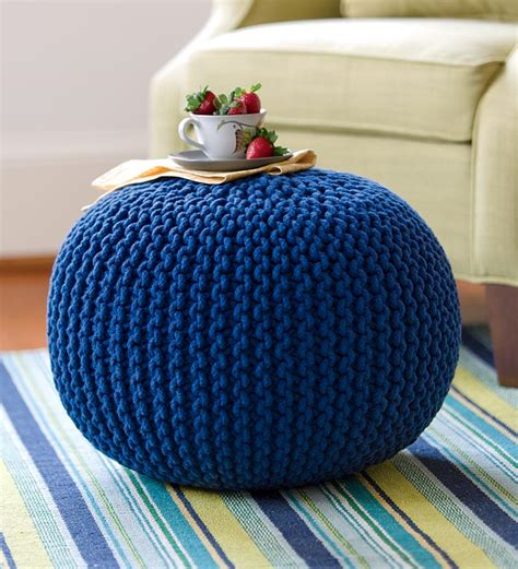 knitted ottomans knitted pouf ottoman gifts 75 100