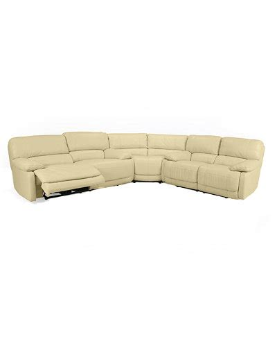 macys leather sectional sofa nina 3 piece leather power reclining sectional sofa