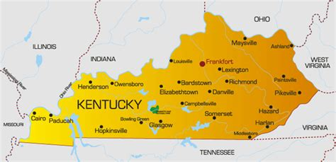 map  kentucky  counties  travel information