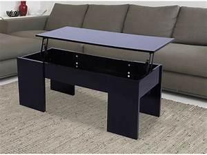 Table Basse Noir : table basse noir laque ~ Teatrodelosmanantiales.com Idées de Décoration