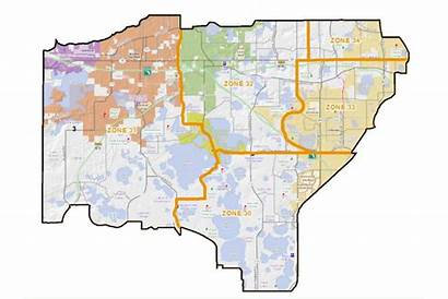 Orange Sector Ocso County Map Southwest West