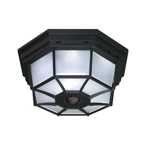 heath zenith 360 degree 4 light black motion activated