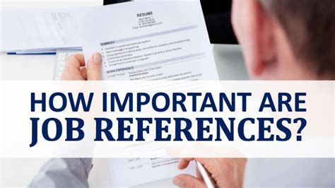 how important are references
