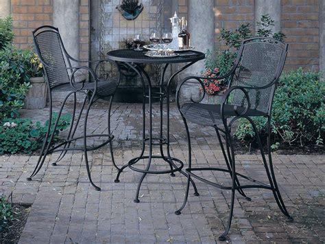wrought iron pub table woodard aurora wrought iron 30 round mesh top bar height