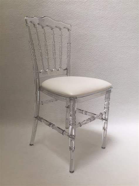 chaises transparente cool of chaise napoleon table et chaises