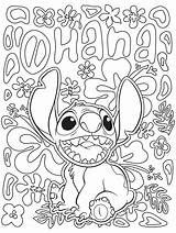 Coloring Disney Pages Adults Stitch sketch template