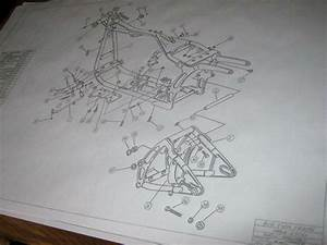 Details About Harley Davidson Softail Frame Blueprint Drawing Hd Poster Print Soft Tail Parts