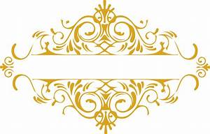 The gallery for --> Gold Floral Design Png