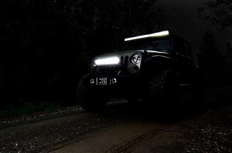 jeep light bar at night 50 inch straight cree led light bar 70950 rough