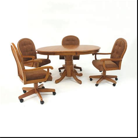 dining table with rolling chairs kitchen table with caster chairs gallery also casual