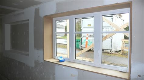 Finishing Window Sills by Drywall Finishing Chateau Shoebox A Vancouver Special