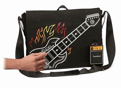Guitar Bag Rock Electronic Thinkgeek Playable Messenger