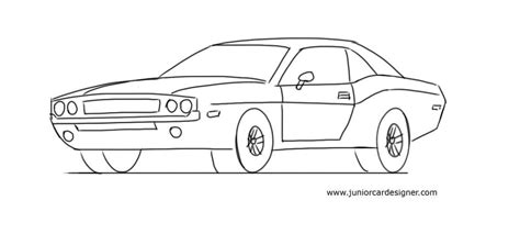 kid car drawing how to draw a muscle car junior car designer