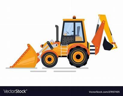 Backhoe Tractor Vector Chairmen Helpful Many Board