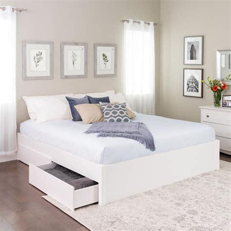 prepac select white king  post platform bed