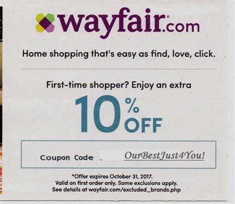 Wayfair 10 coupon code 2018