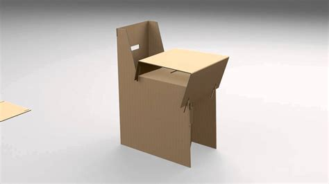 fabriquer chaise cardboard furniture chair
