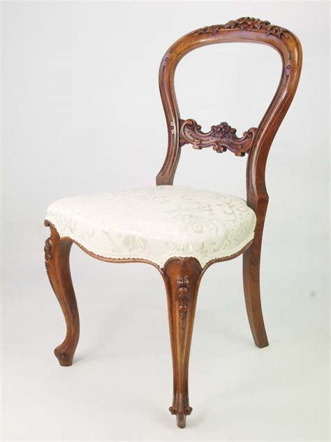 victorian walnut balloon  chair  rose carving