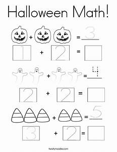 Halloween Math Coloring Page Twisty Noodle