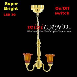 Battery Operated Led Lamp Dollhouse Miniature Light