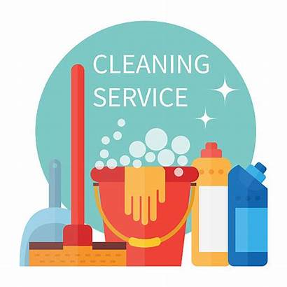 Cleaning Supplies Pulizia Clip Janitorial Illustrations Schoonmaak