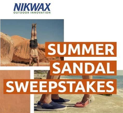 summer sandals sweepstakes week