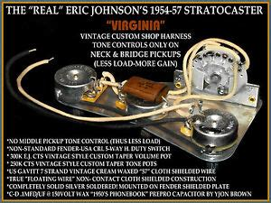 Eric Johnson Wiring Diagram by Real Eric Johnson Strat Repro Wiring Harness His Specs