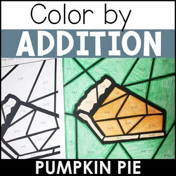 differentiated color  addition pumpkin pie tpt