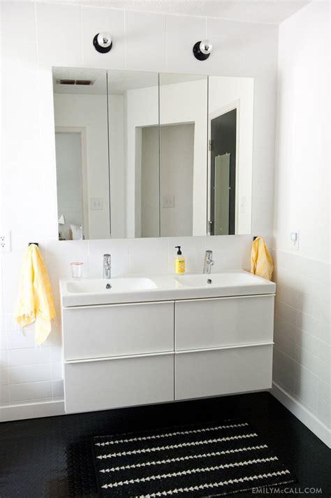 master bathroom ikea godmorgon mirrored medicine