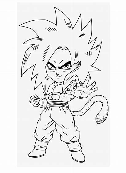 Goku Chibi Coloring Dragon Ball Dibujos Saiyan