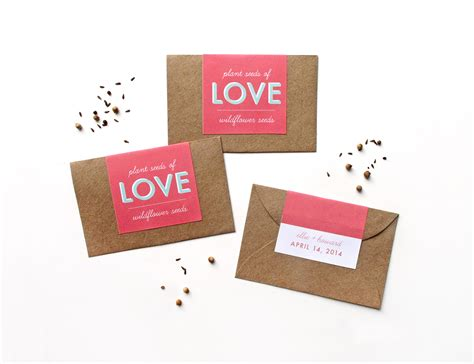 makr diy favors custom seed packets