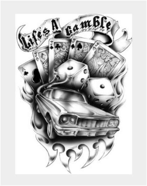 10 Best images about playing cards on Pinterest | Gambling tattoos, Sleeve and Money rose tattoo