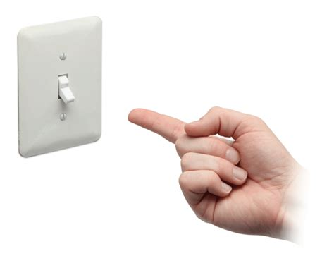 turn light on useless light switch thinkgeek