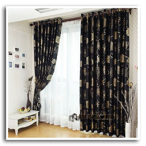 black and gold drapes anticorrosive metal grommet beautiful black and gold