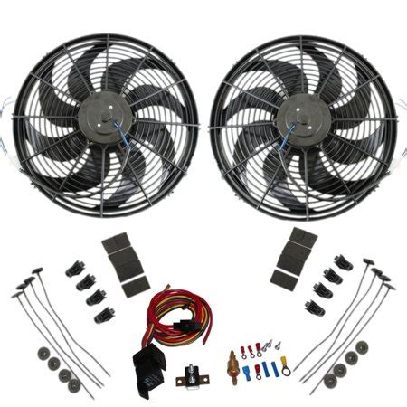 Dual Electric Radiator Wide Curved Blade Fan Cfm