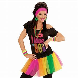 Neon Tutu Damenrock Petticoat Mini Rock 80er Jahre Mode
