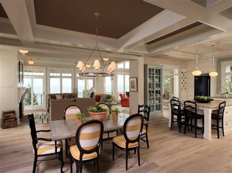 open kitchen dining living room floor plans images  open floor plan homes  islands open